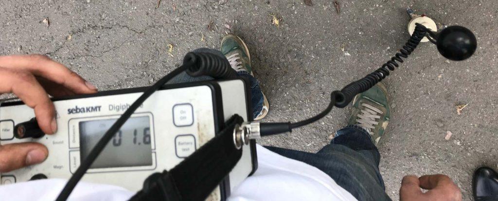акустический метод поиска повреждения кабелей