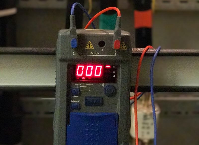 измерение сопротивления обмоток электродвигателя